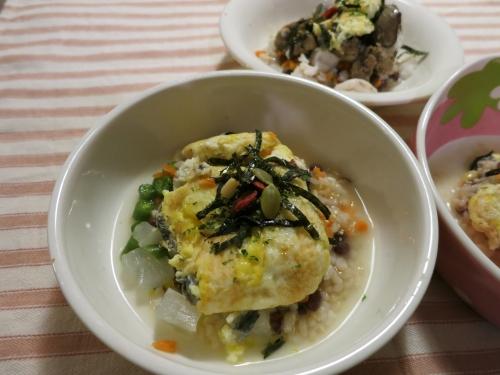 朝ご飯 うなぎの卵とじ