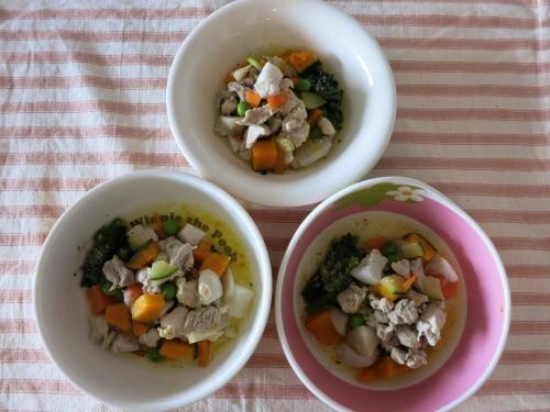 朝ご飯 根菜と鶏の煮物