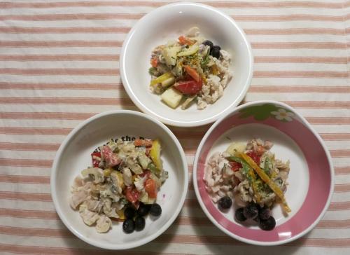 朝ご飯 鯵のカルパッチョ