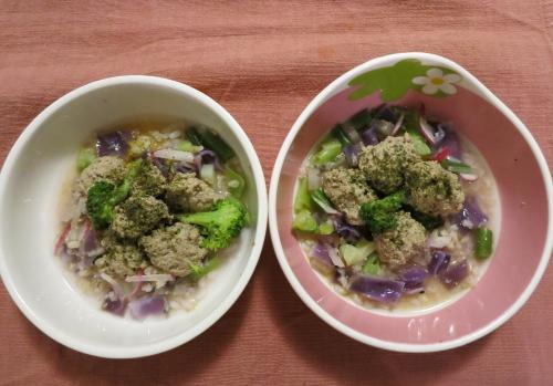 朝ご飯 肉団子のスープ