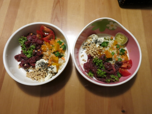 野菜ピラフ+馬肉ステーキ