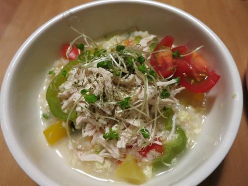 鶏ガラと卵の中華粥 アップ