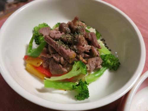 夜ご飯 ラム肉鉄板焼きステーキ