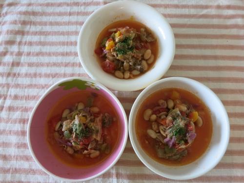 夜ご飯 牛スジのボルシチスープ