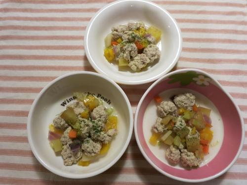 夜ご飯 蓮根とおからの肉団子スープ