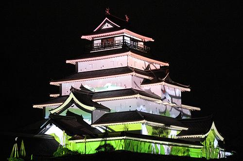 鶴ヶ城プロジェクションマッピング0014