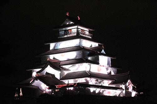 鶴ヶ城プロジェクションマッピング0016