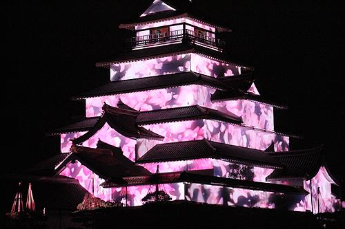 鶴ヶ城プロジェクションマッピング0017