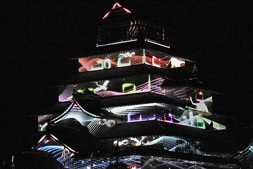 鶴ヶ城プロジェクションマッピング1