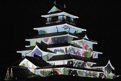 鶴ヶ城プロジェクションマッピング2