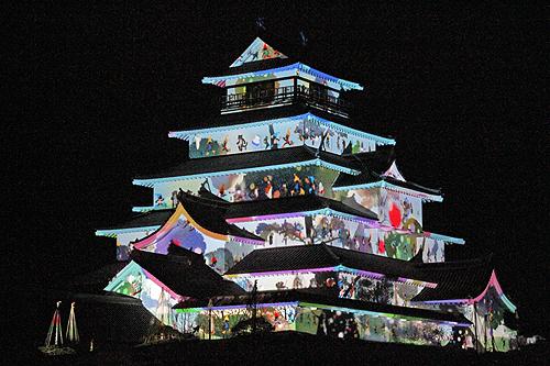 鶴ヶ城プロジェクションマッピング4