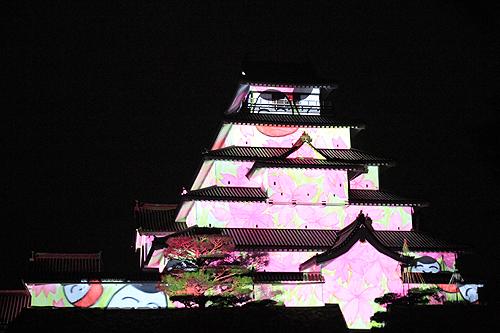 鶴ヶ城プロジェクションマッピング322