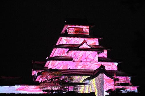 鶴ヶ城プロジェクションマッピング324