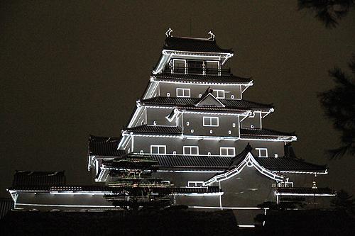 鶴ヶ城プロジェクションマッピング325