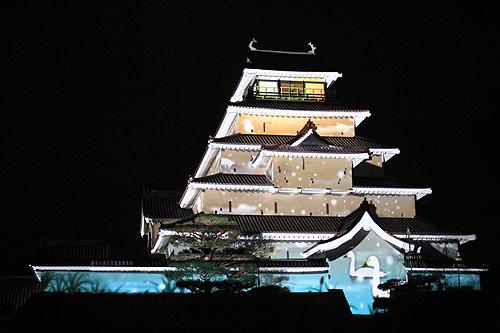 鶴ヶ城プロジェクションマッピング326