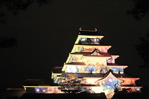 鶴ヶ城プロジェクションマッピング330