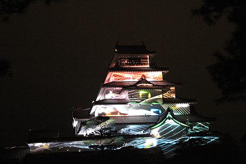 鶴ヶ城プロジェクションマッピング331