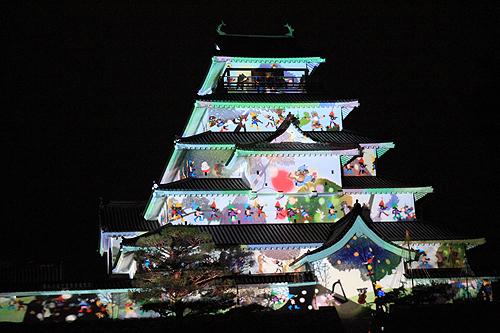 鶴ヶ城プロジェクションマッピング332