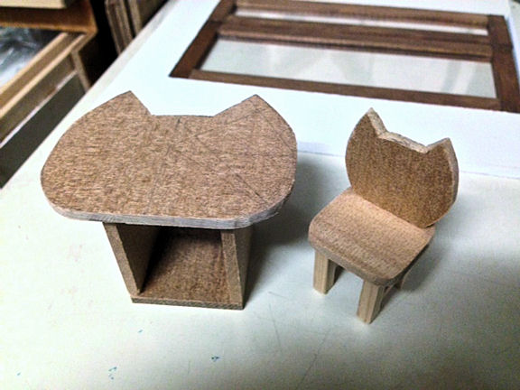 猫椅子、猫テーブル