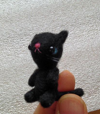羊毛猫黒1