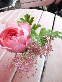 卓上の薔薇