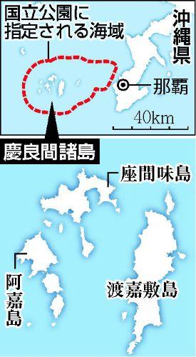 慶良間諸島国立公園略図