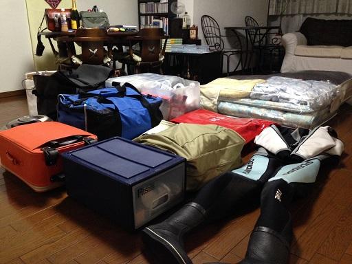 積み込む荷物