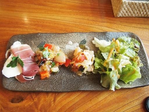 益子森のレストラン前菜