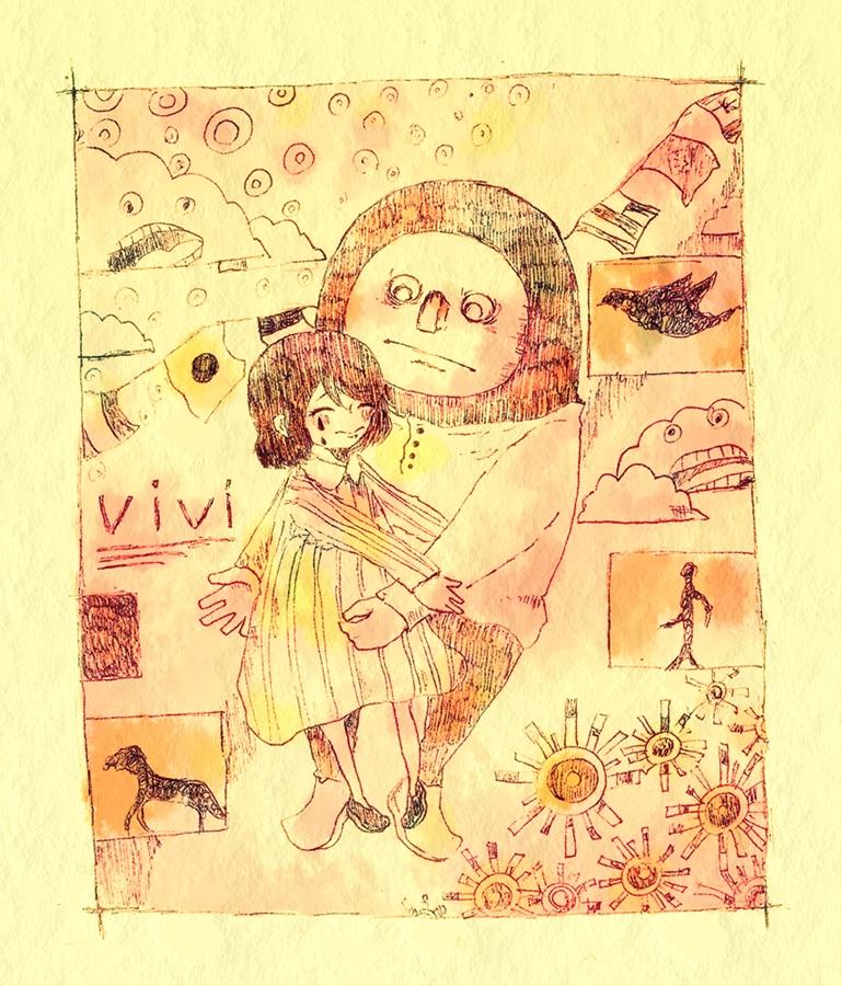 今回の更新絵は、米津玄師の曲「vivi」です。 いやあ、ゴーゴー幽霊船のMADを見て、米津玄師をリピートする日々です。 今度アルバム借りに行こう。