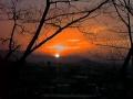 日没の東光寺裏山