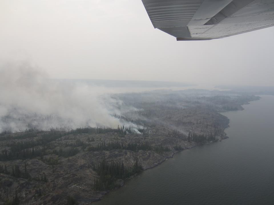 イエローナイフ山火事 Yellowknife wildfire 2014summer