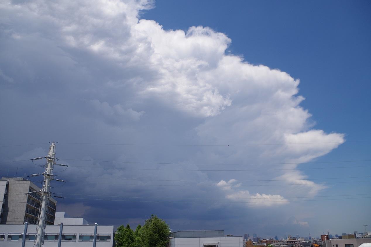 2014年6月13日東京ゲリラ豪雨 雨雲 スポットで降っている様子