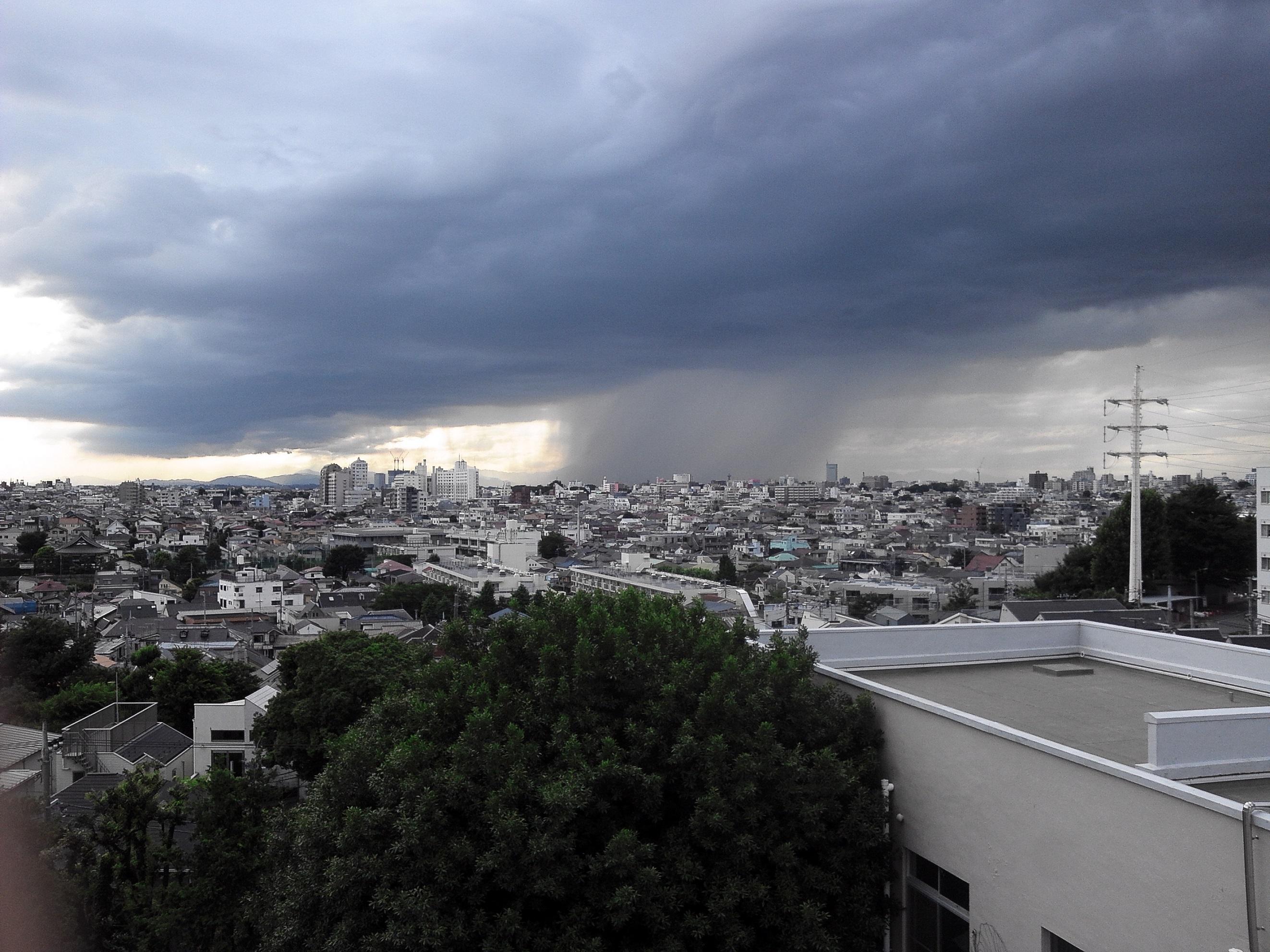 2014年7月11日 東京ゲリラ豪雨 集中豪雨 雨雲