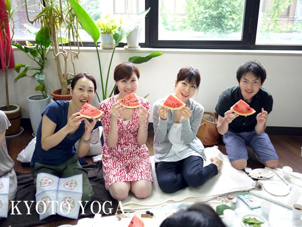 8月真夏の持ち寄りパーティ 京都ヨガ