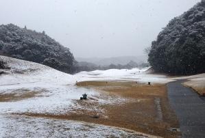 雪中ゴルフ