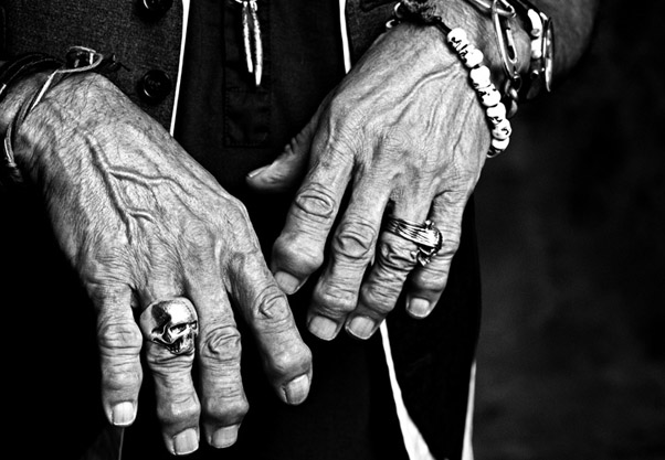 keith richards skull ring crew silver