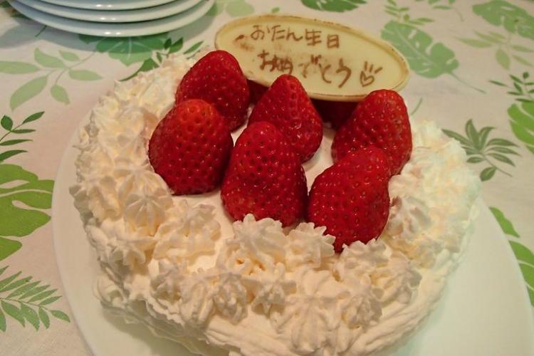 娘の初ケーキ♪