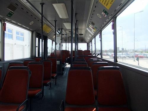 バスで市内へ