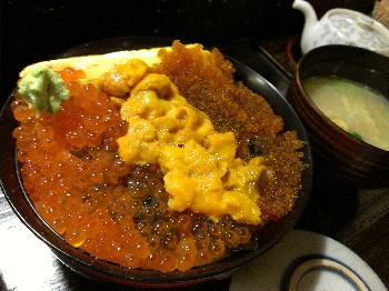 潮鮨 三色丼