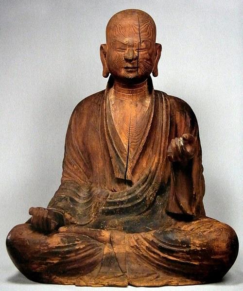神奈川・箱根万巻神社万巻上人像