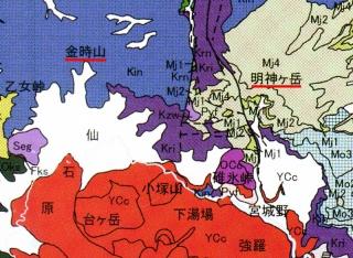 明神ヶ岳・金時山付近の地質図