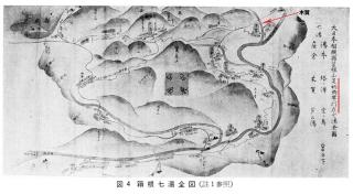 「七湯の枝折」より箱根七湯全図