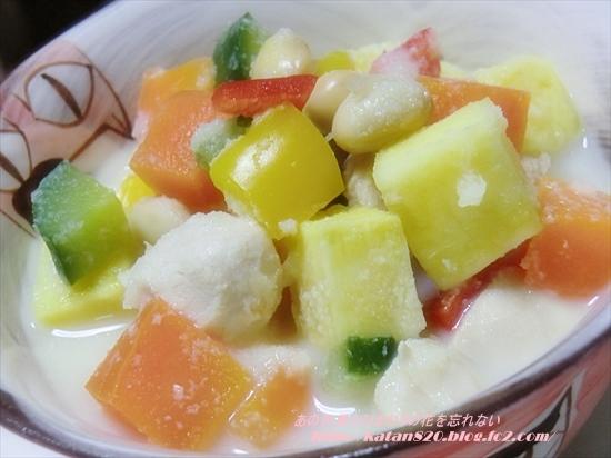 さつまいもと彩り野菜のおからスープ♪