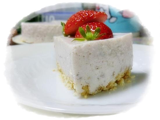いちごの豆腐ヨーグルトチーズケーキ♪
