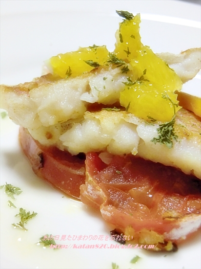 鯛のソテートマトソース♪