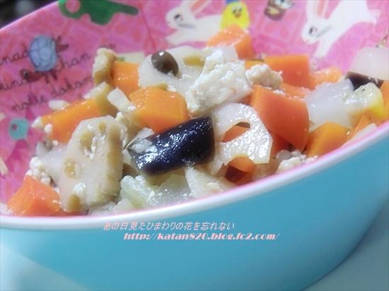 根菜と鶏ひき肉の炒め煮♪