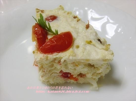 豆腐のミートローフケーキ♪
