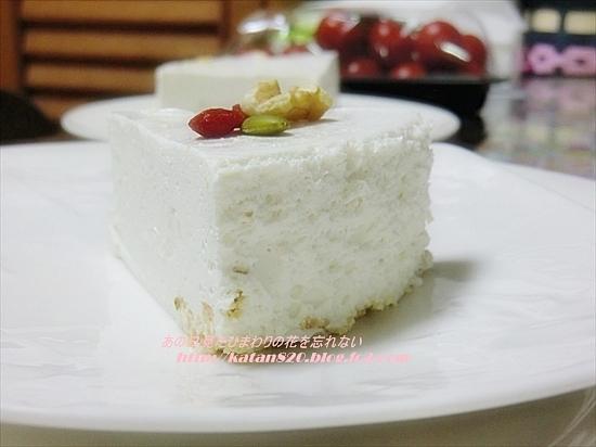 水切りヨーグルトレアチーズケーキ♪