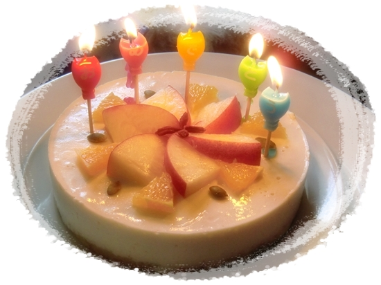 豆腐のレアチーズケーキ♪