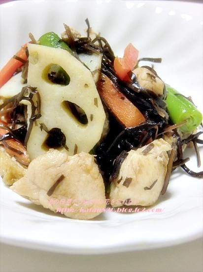 鶏肉とあらめの煮物♪